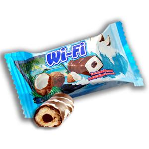 Вай-Фай кокосовый батончик с шоколадной начинкой