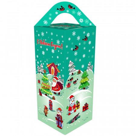 Сладкий новогодний подарок Подарочек бирюзовый 500 грамм стандарт в Ульяновске