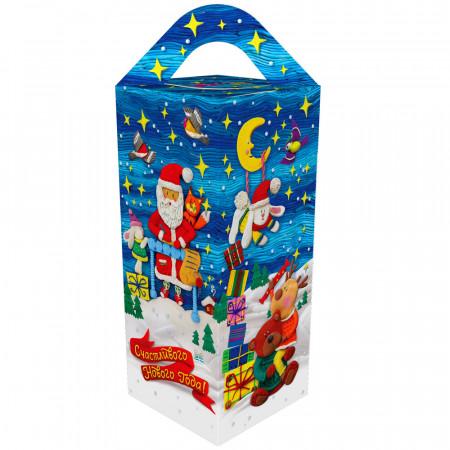 Сладкий новогодний подарок Подарочек голубой 500 грамм элит в Ульяновске