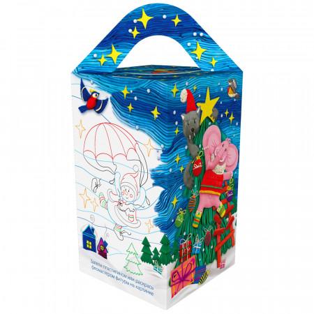 Сладкий новогодний подарок Подарочек голубой 600 грамм стандарт в Ульяновске