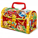 Коллекции сладких новогодних подарков с конфетами в Ульяновске