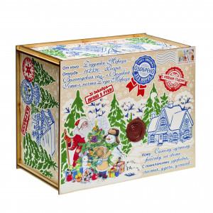 Посылка от Деда Мороза Стикер 1300 грамм премиум