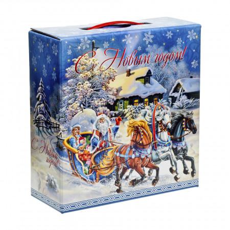 Сладкий новогодний подарок Мороз и сказка 1500 грамм элит в Ульяновске