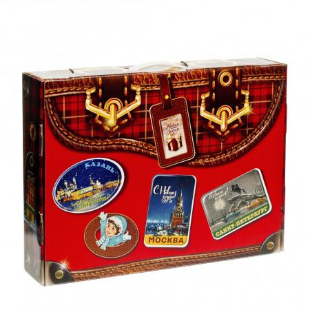 Новогодний багаж красный 1000 грамм стандарт в Ульяновске