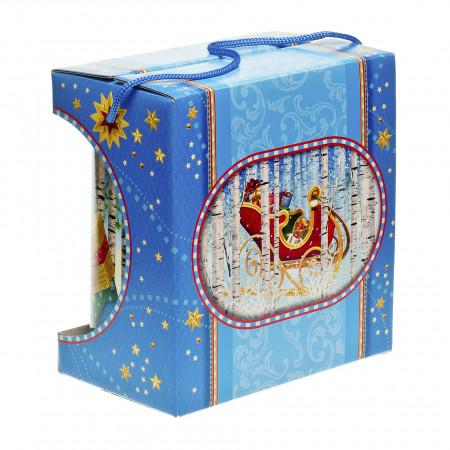 Сладкий новогодний подарок Туесок 800 грамм премиум в Ульяновске