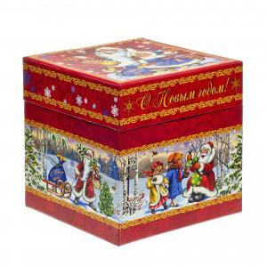 Куб Дед Мороз и дети 800 грамм элит