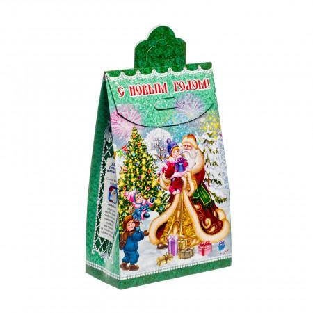 Сладкий новогодний подарок Пакет Зимний экспресс 800 грамм стандарт в Ульяновске