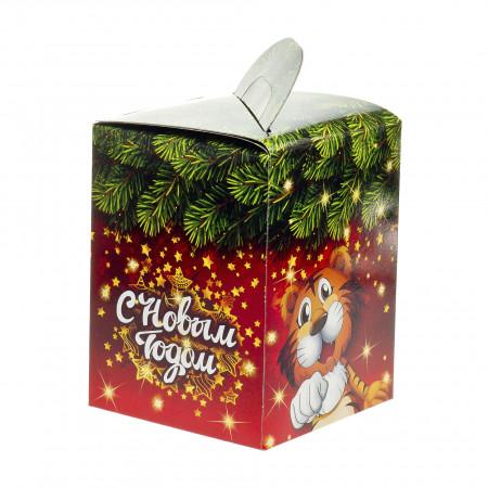 Сладкий новогодний подарок Кубик Тигр 600 грамм стандарт в Ульяновске