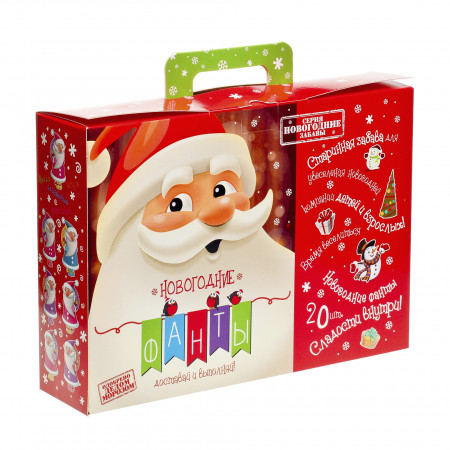 Сладкий новогодний подарок Подарок с фантами 800 грамм премиум в Ульяновске