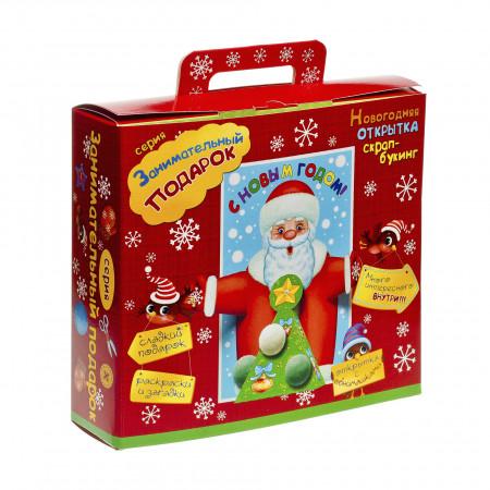 Сладкий новогодний подарок Подарок с поделкой 800 грамм стандарт в Ульяновске