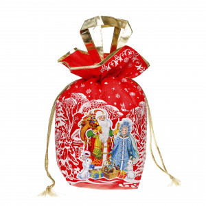 Мешочек с двумя ручками красный 1500 грамм элит